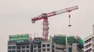 Construction crane time lapse.