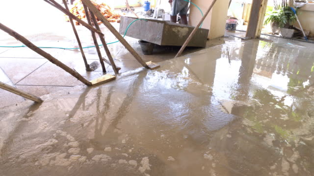 construction house cement flooring
