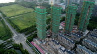 Construction of wuxi new town night view