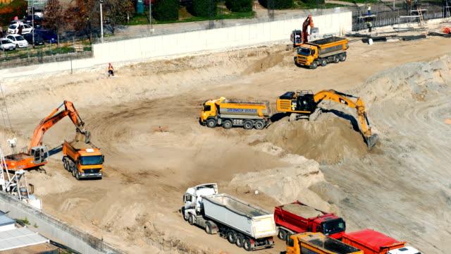 Construction site 4k timelapse.