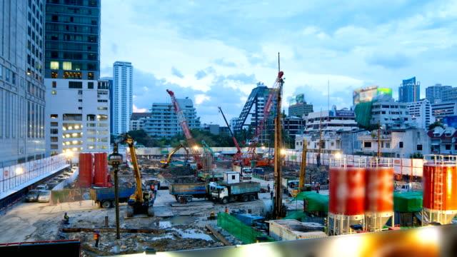 Baustelle in der Stadt