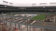 Construction site on Wrigley Field on April 3 2015