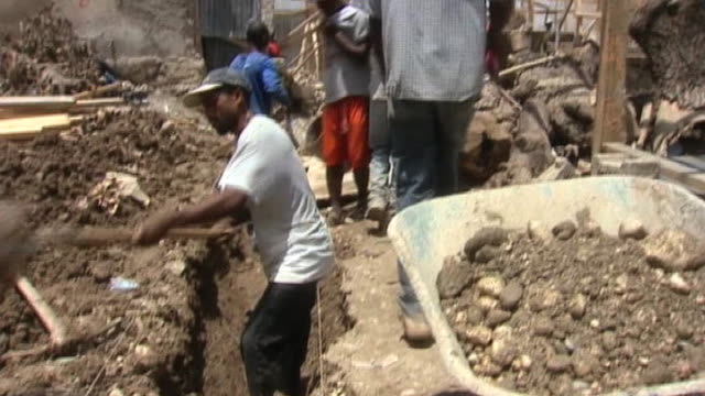 Construction work taking place in efforts to rebuild Haiti following earthquake 13 April 2010
