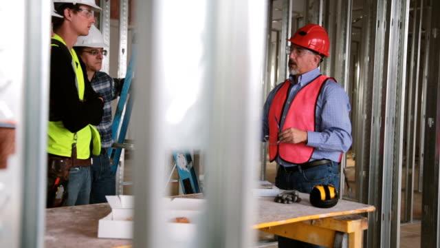 Bauarbeiter Sicherheit Treffen