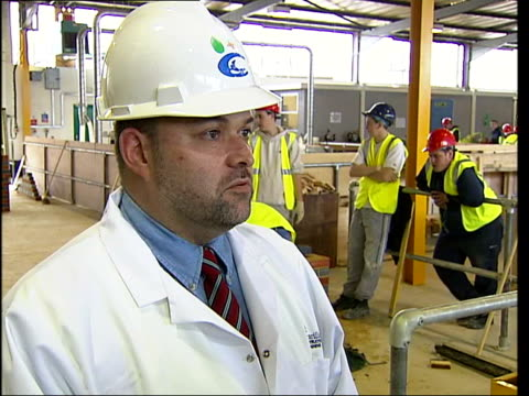 Construction workers sought for Terminal 5 building at Heathrow ITN Inside centre PAN Stuart Rivers interview SOT Trainees seem to enjoy what they're...