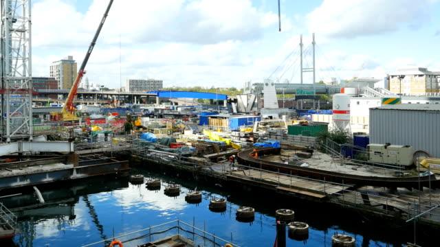 T/L Bauarbeiten im London Canary Wharf