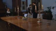 MS POV Consuelo Vanderbilt and Charles Spencer Churchill at dinner table / United Kingdom