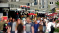 4K: Consumers at shopping street in Europe