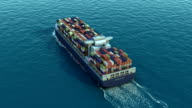 Container ship for transport