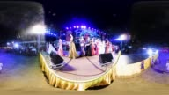 Contestants compete in the 'Ladyboy Beauty Contest' as part of the annual Yasothon Rocket Festival