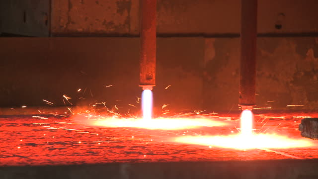 MS PAN Continuous casting in steel factory at Thyssen Steel AG / Duisberg, North Rhine-Westphalia, Germany