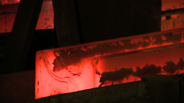 CU Continuous casting in steel plant at Arcelor Belval / Esch-Alzette, Luxembourg, Luxembourg
