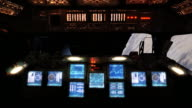 Control center of space shuttle