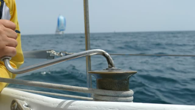 control sails in a sailing race