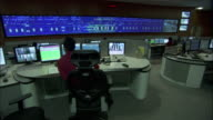 Controllers monitor several screens each.