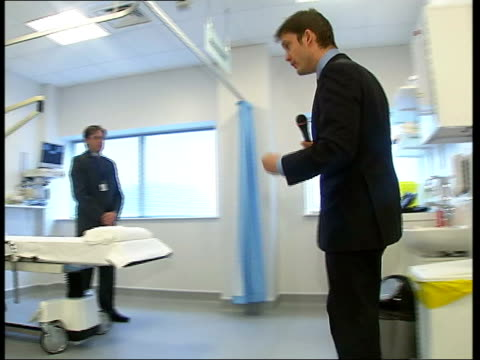 Controversy over walk in plastic surgery unit ITN Bill Buckley interviewed SOT Discusses plastic surgery to his chest Chest i/c Dr Johan du Plessis...