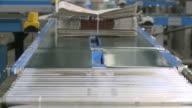CU Conveyor belt at newspaper print office / Frankfurt, Hesse, Germany