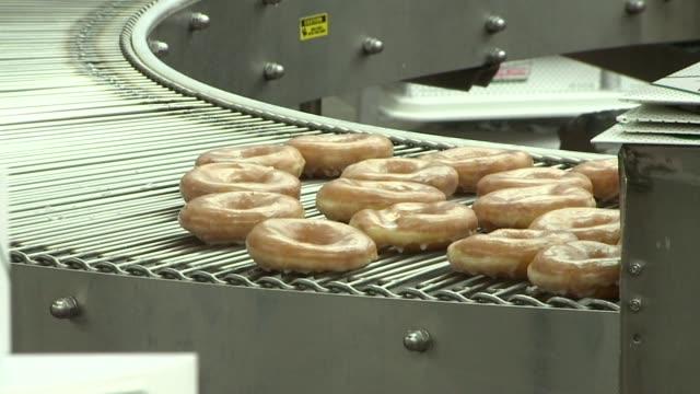 WGNO Conveyor Belt Making Doughnuts on June 07 2013 in New Orleans Louisiana