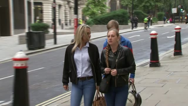Convicted Cyclist Charlie Alliston court arrival ENGLAND London The Old Bailey EXT Charlie Alliston along to court / Matt Briggs along to court
