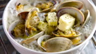 Cooking Clam on oven top