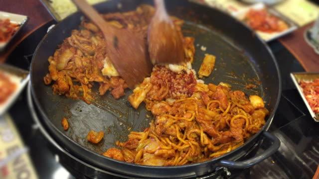 HD : Cooking Dak galbi , traditional food of Korea