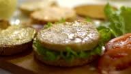 Cooking hamburger,slo mo