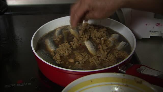 Cooking Jindani, A Simmered Fish Dish, Fukuoka, Japan