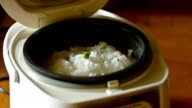 Cooking White Rice with green bean
