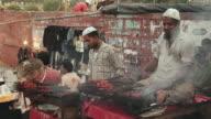 MS Cooks preparing kebabs in holy month of Ramzan / Delhi, India