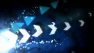 Cool Arrows Background Loop - Blue (Full HD)