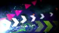 Cool Arrows Background Loop - Retro Rainbow (Full HD)