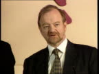 Cool Britannia ITN Foreign Sec Robin Cook MP to podium for pkf LS Cook standing in front of backdrop `Panel 2000' Robin Cook MP pkf I personally...