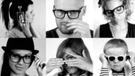 Cool people with glasses