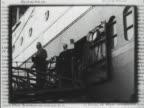 Copies of 'Mein Weltbild' book by theoretical physicist Albert Einstein CU Page MOT 1930 SAN DIEGO *Albert Einstein walking off ocean liner Female...