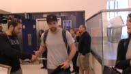 Corey Crawford of the Chicago Blackhawks departing at LAX Airport in Los Angeles in Celebrity Sightings in Los Angeles