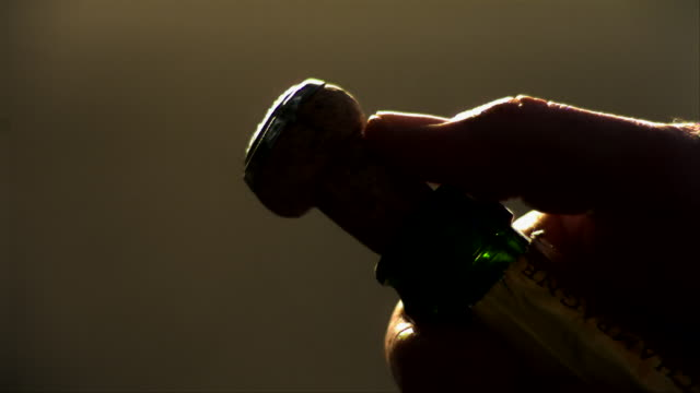 Cork erupting from a bottle of champagne - 9000fps (360x slowed down)