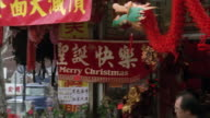 MS PAN  Corner of  asian market with christmas decorations / New York, New York, United States