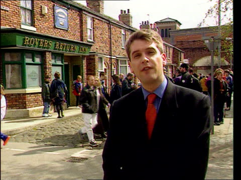 Dierdre let out of jail ITN ENGLAND Manchester 'Coronation Street' i/c