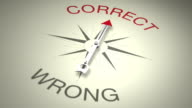 Correct Versus Wrong