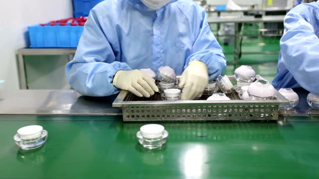 cosmetics package production assembly line