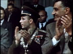 Cosmonaut Yuri Gagarin first man in space Gagarin's triumphant trips abroad in Egypt huge meeting in a stadium Gagarin with Nasser Gagarin at the...