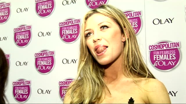 Cosmopolitan Ultimate Woman of the Year Awards 2009 Arrivals and interviews Clancy interview SOT On Cosmopolitan inspiring fashion women's advice and...