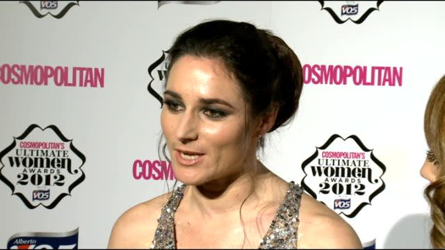 Cosmopolitan Ultimate Women Of The Year Awards 2012 Arrivals / Winners room Alex Jones Iwan Thomas and Sarah Storey speaking to press SOT Alex Jones...