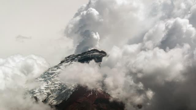 Cotopaxi Volcano, Ecuador erupting water vapour in November 2015