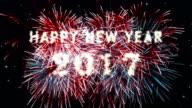 Countdown Fireworks Display Happy new year 2017