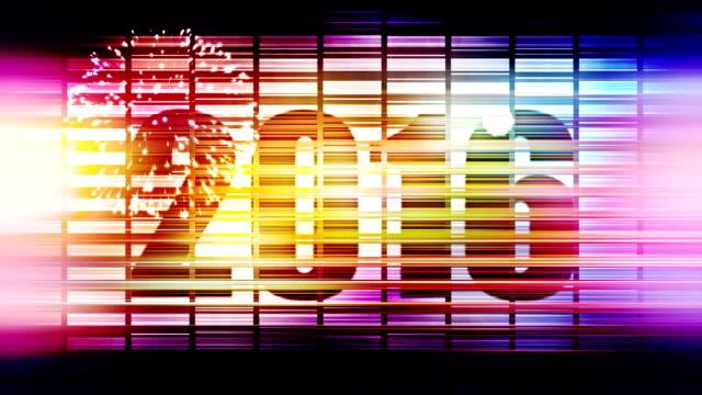 Aftellen naar 2016 disco achtergrond