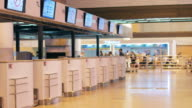Counter Check-in at Airport Terminal