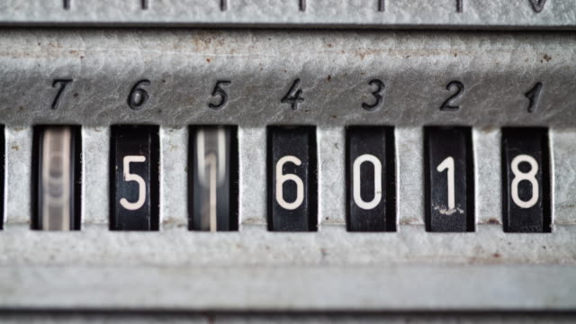 Counter with numbers