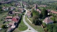 Counterclockwise flight around the fortified church in Somartin, Sibiu