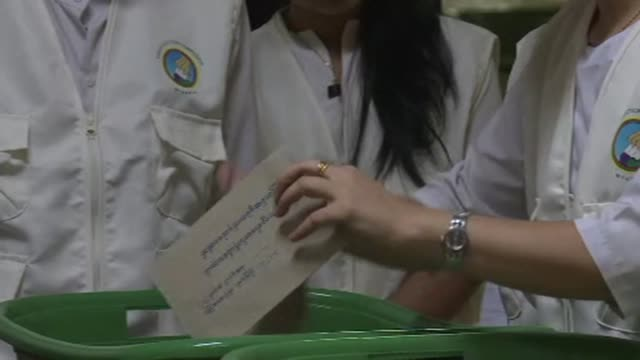 Counting gets underway in Myanmars landmark general vote after polls closed following a massive turnout which one election official put at around 80...